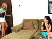 Hot blooded lesbian Trinity St Clair enjoys eating pussy of sex-appeal GF