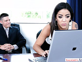 Super sexy Latin secretary Mia Martinez does everything her boss desires