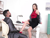 Gorgeous secretary Tina Kay has a sex with her boss in the office