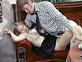Cute and appetizing pale vintage blondie gets fucked mish and gives head