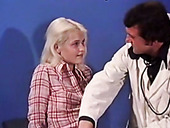 Vintage blonde gets horny and allows kinky doctor to fuck her pussy