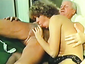 Horny pensioner fucks two insatiable well stacked young chicks
