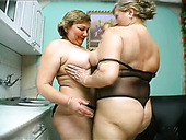 Frightening ugly aunts Anna and Yolanda are fucking in a dirty lesbian act