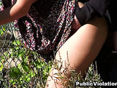 Curvy big boobs brunette whore sucks and fucks doggystyle outdoors.