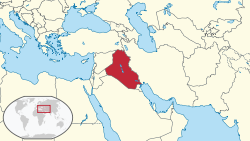 Location of Irak