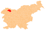 Location of the Municipality of Bled in Slovenia