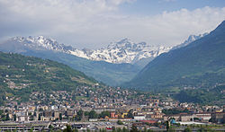 Aerial view of Aosta