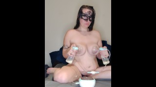 MILF being Milked and Tastes it!