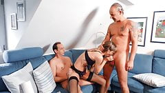 AmateurEuro - Horny German Couple Invite Neighbor For A 3way