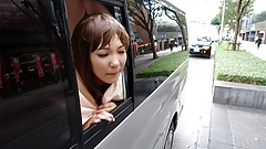 Japanese brunette, Kei Mizushima is having a car sex, uncens