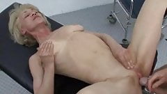 Granny Rita receives anal Injection & facial at doctors