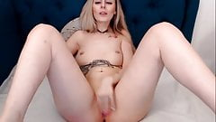 Hot Blonde Wildly Plays Her Pussy