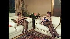 Threesome with two German milfs, upscaled to 4K