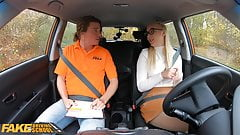 Fake Driving School Blonde learner Amaris and her perfect