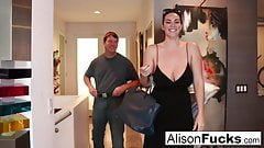 Busty Alison Tyler meets her Catfish, then fucks his roommate