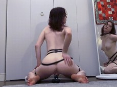 Solo Female #Her Sweet Asset #Dildo Ride #Ass View #Perfect Ass #Oui Hot gif