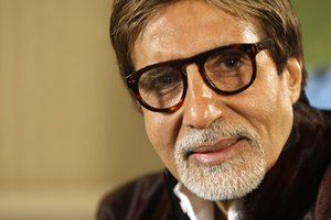 In this Nov. 10, 2009 file photo, Bollywood superstar Amitabh Bachchan speaks during an interview in London.
