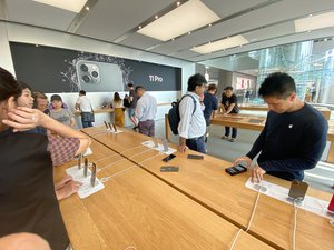Hong Kong Central Apple Store IFC mall shop morning In October 2019