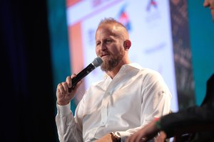 title Brad Parscale speaking with attendees at the 2018 Student Action Summit in West Palm Beach, Florida