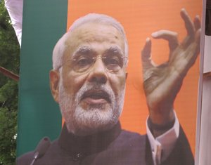 Poster of Narendra Modi, Chief Minister of Indian state Gujarat