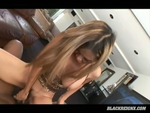 Petite Asian chick Mika Kani gets brutalized by big black cock