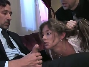 Stunning Felony is forced to entertain horny Erik Everhard and Steve Holmes...