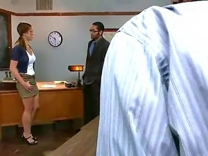 Young and pretty student Audrey Rose gets gangbanged by a group of men