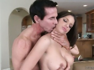 Peter North gives flirtatious Brooklyn Chases mouth a try in oral action