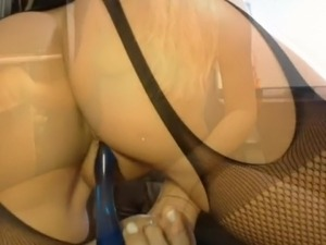 Hot Blonde Spreads Her Nice Ass