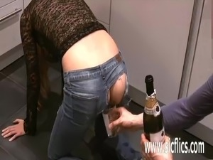 Fisting hot amateur girls gaping ass and pussy
