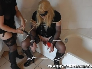Playing with t-girls and crossdressers