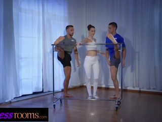 Fitness Rooms Czech Ballet Teacher Charlie Red Fmm Threesome With Gym Hunks